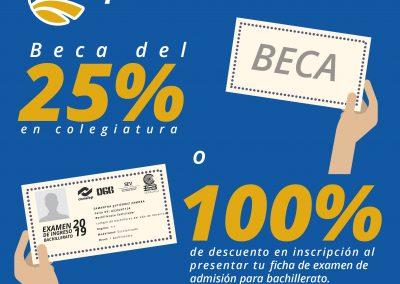 BECAS DEL 25 O 100%